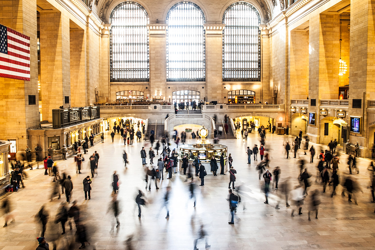 Busy commuters at Grand Central Station