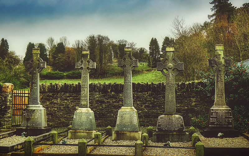 Irish cross headstones